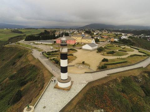 Ortiguera. Coast of Asturias,Spain. Aerial Drone Footage
