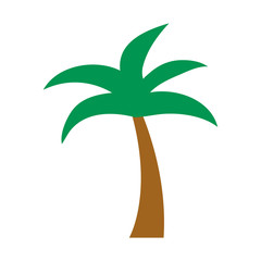 Wall Mural - tree palm flat style icon