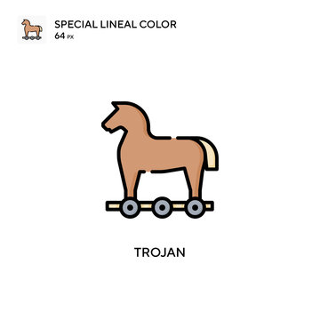Trojan Special lineal color icon. Illustration symbol design template for web mobile UI element. Perfect color modern pictogram on editable stroke.
