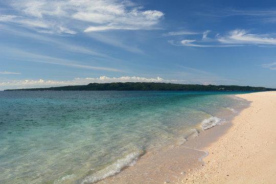 View of Puka Shell beach. Boracay. Western Visayas. Philippines