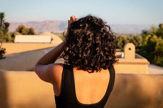 Sun Salutation Namaste Meditation Prayer Yoga Travel Morocco Landscape
