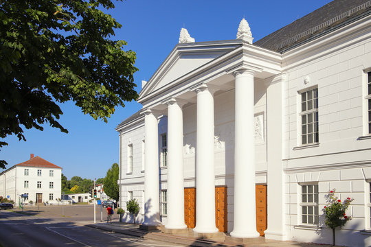 The theater of Putbus (the white town) on the island Ruegen, Germany