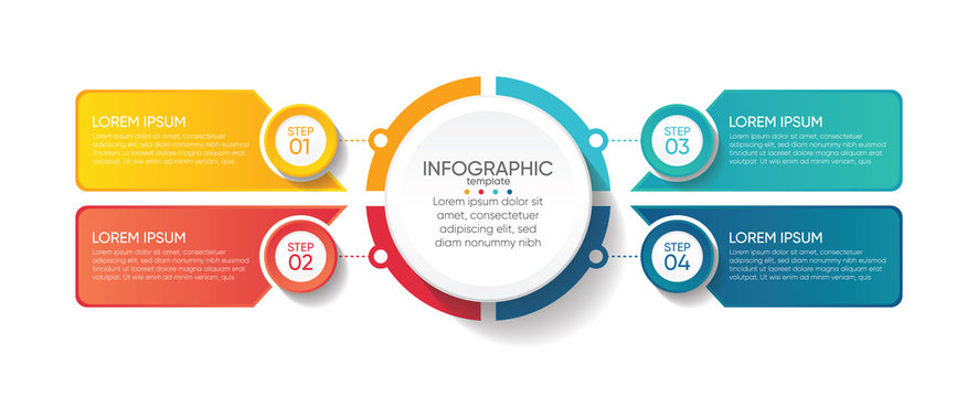 Presentation business abstract background infographic template