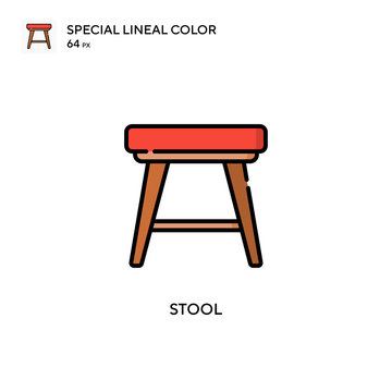 Stool Special lineal color icon. Illustration symbol design template for web mobile UI element. Perfect color modern pictogram on editable stroke.