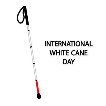 International white cane day concept, vector art illustration.