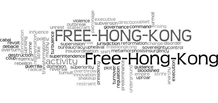 Free Hong Kong Word Cloud Illustration