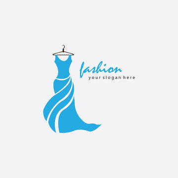 boutique logo fashion illustration female body design vector