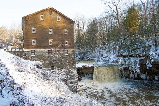 Lantermann's old mill in winter