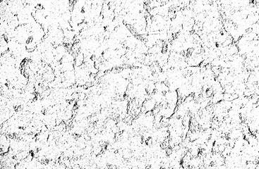 Distress old cracked concrete vector texture. EPS8 illustration. Black and white grunge background. Stone, asphalt, plaster .