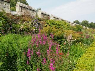 Crenallations in castle gardens