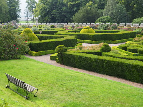 Formal gardens with topiary