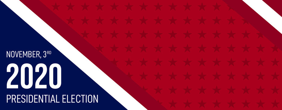 2020 Presidential Elections background. Banner for US elections, voting concept vector illustration.