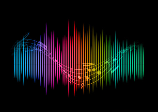 Abstract soundwaves background