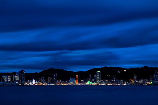 神戸の夜景(ポートアイランド・しおさい公園から)