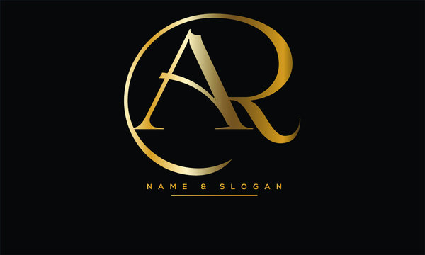 AR, RA, A, R abstract letters logo monogram