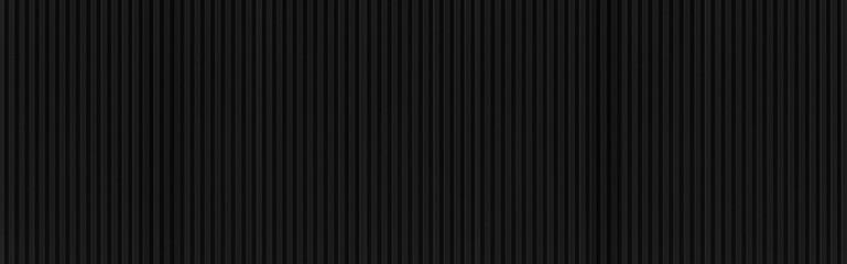 Printed kitchen splashbacks Metal Panorama of Black Corrugated metal background and texture surface or galvanize steel