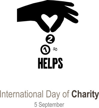 Vector Illustration on the theme International Day of Charity, 5 September.