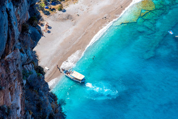 Canvas Prints Turquoise Butterfly Valley ( Kelebekler Vadisi ) view in Fethiye Town of Turkey