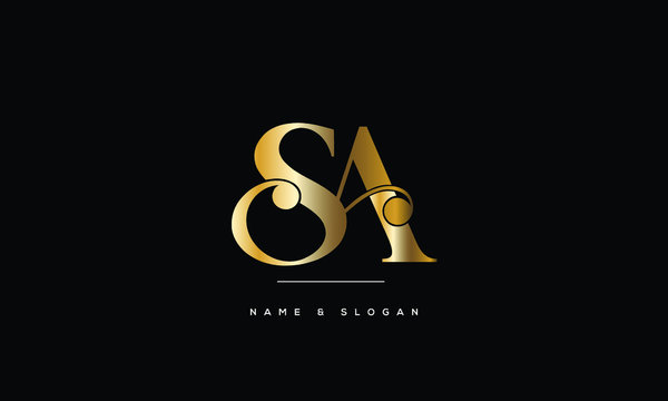 SA ,AS ,S A,  Abstract Letters Logo Monogram