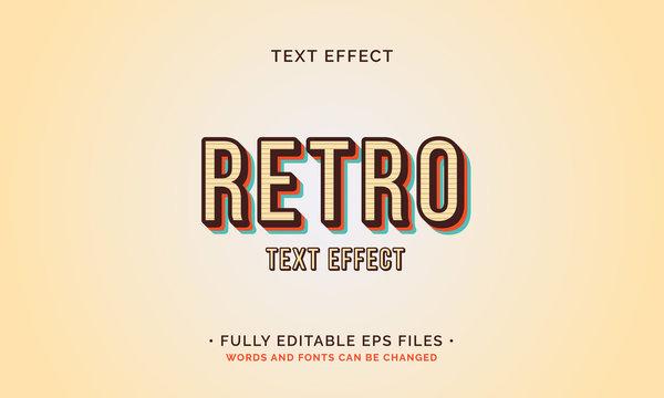 Retro Text Effect Fully Editable