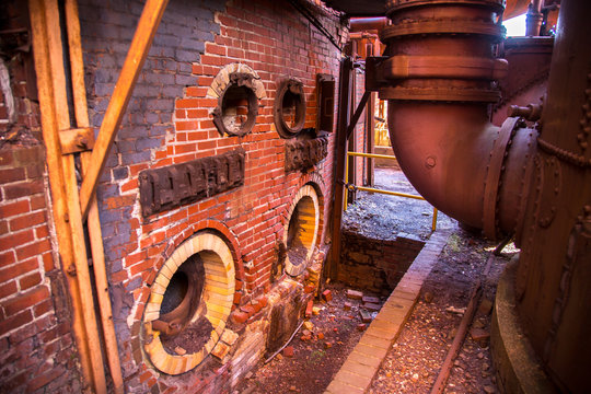 Sloss Furnaces.  It is a National Historic Landmark in Birmingham, Alabama.  It operated as a pig iron producing blast furnace from 1882 to 1971.