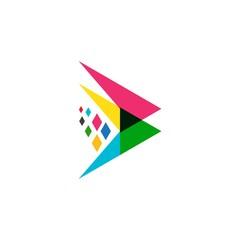 Fototapeta Arrow illustration logo