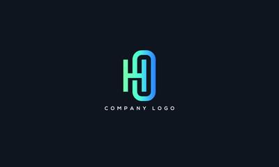 Alphabet letter icon logo HO.