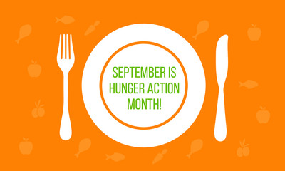 Vector illustration on the theme of Hunger action month observed each year during September.