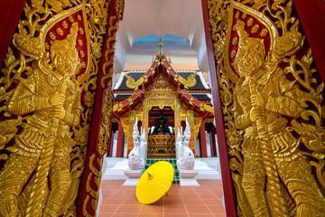 Wall Mural - Wat Khua Khrae in Chiang rai, Thailand.