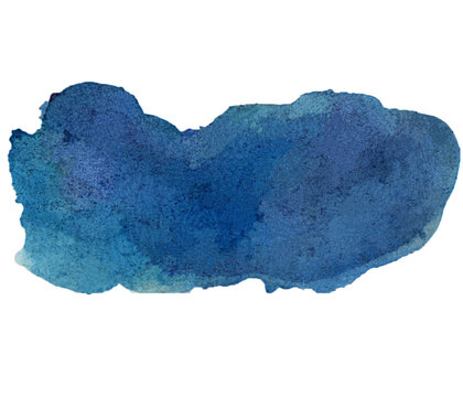the blue colorful watercolor stain from the brush png