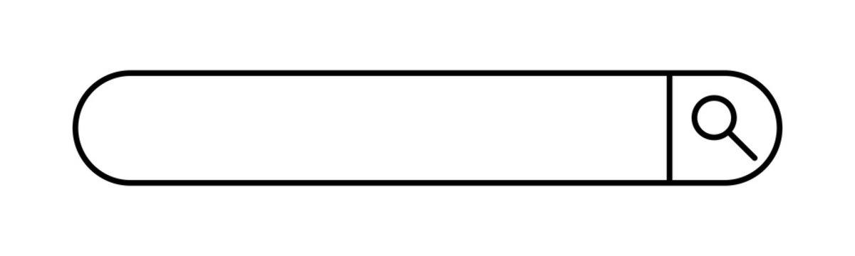 Barra buscador. Ilustración vectorial aislada en fondo blanco