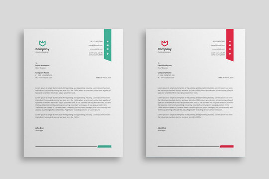 Abstract Corporate Business Style Letterhead Design Vector Template For Your Project. Simple And Clean Print Ready Design, Elegant Flat Design Vector Illustration.