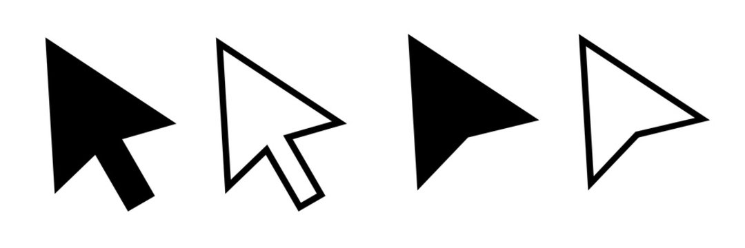 Cursor mouse pointer icon vector illustration. Pointer cursor icons. Web arrows cursors. Cursor click.