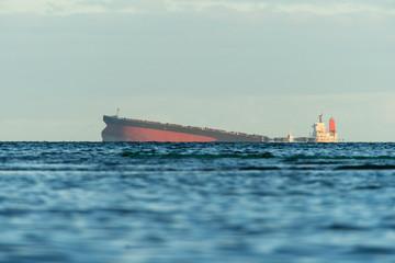 Garden Poster Shipwreck Japanese ship Wakashio wrecked off the coast of Mauritius