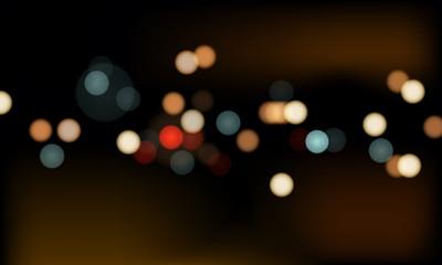 Street Lights Of Urban City Street At Night Fotomurales