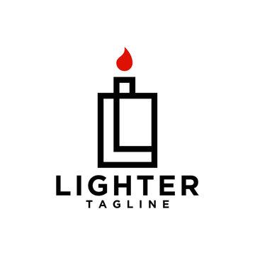 lighter logo concept, letter L logo