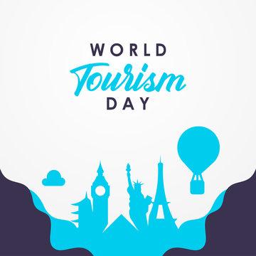 World Tourism Day Vector Design Illustration For Celebrate Moment