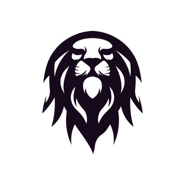Abstract lion fire logo template