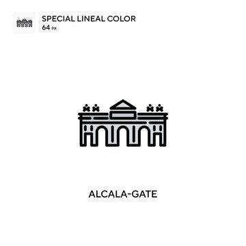 Alcala-gate Simple vector icon. Perfect color modern pictogram on editable stroke.