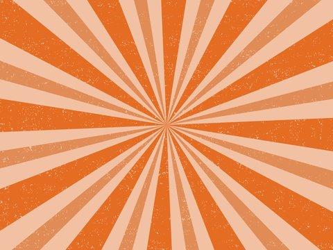 Vintage orange halloween colour retro burst background