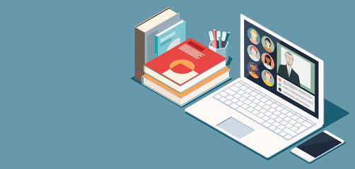 Online learning and virtual classroom