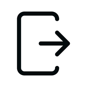 Website user logout isolated icon, web site account log out linear icon, site profile exit outline vector icon