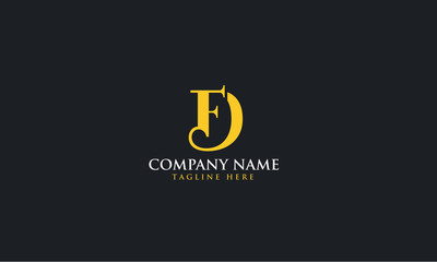 Elegant logo DF monogram logo for brand