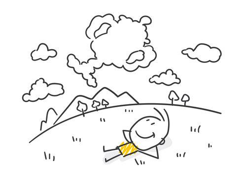 Strichfiguren / Strichmännchen: Träume. (Nr. 529)