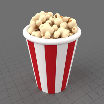 Stylized popcorn bucket