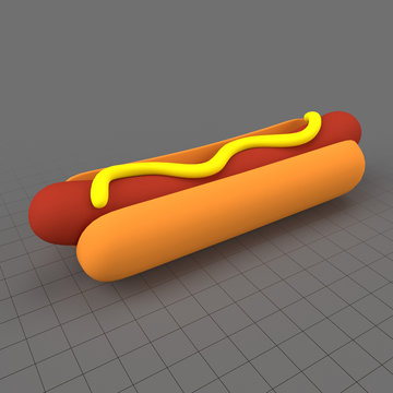Stylized hot dog