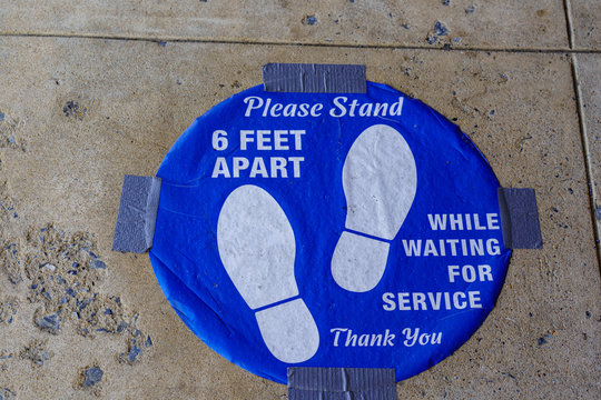 Stand 6 Feet Apart Sign