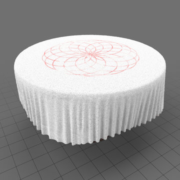 Table with fabric