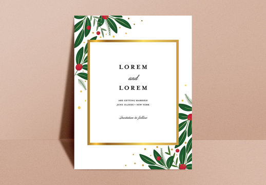 Floral Save the Date Layout Design