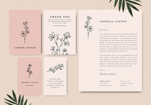 Floral Stationery Business Layout Collection